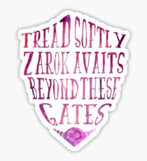 Zarok Awaits (Purple) Sticker