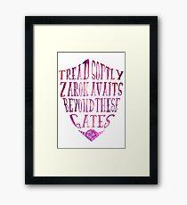 Zarok Awaits (Purple) Framed Print