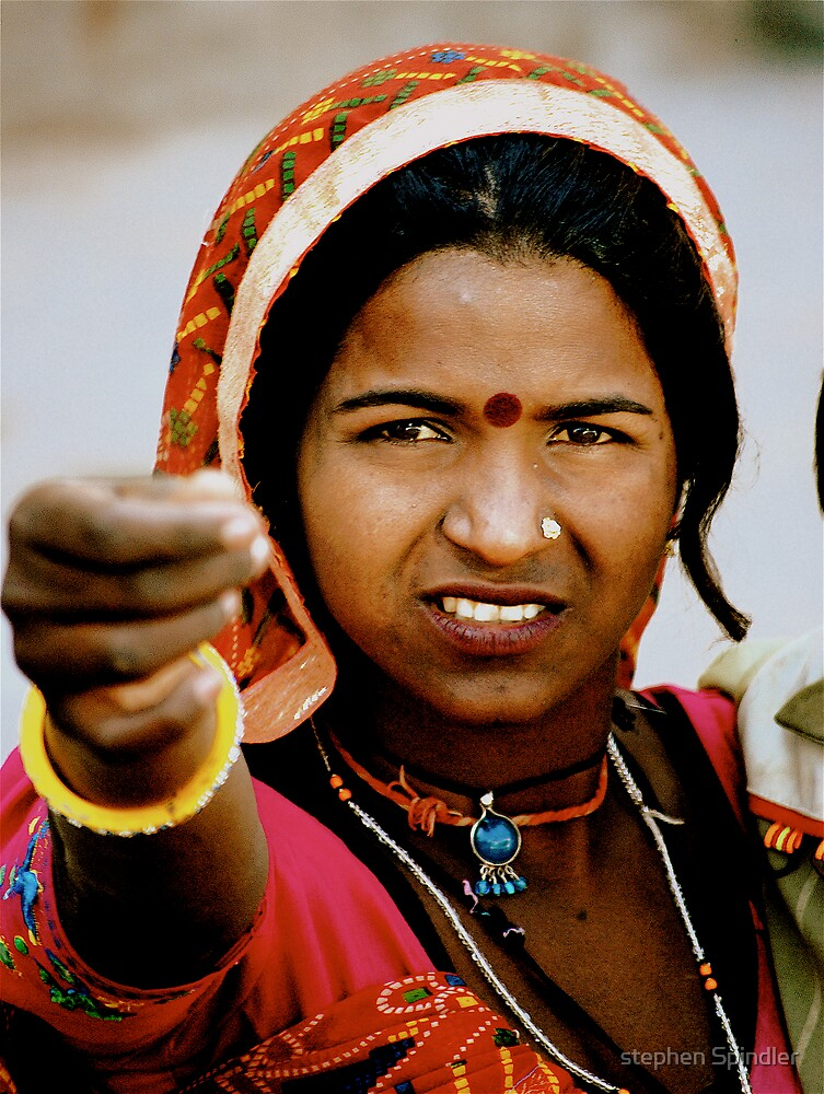 Indian Woman Begging by stephen Spindler
