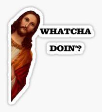 Jesus Is Watching You Meme Sticker
