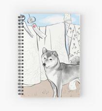 Shiba inu, Kimono and Summer breeze Spiral Notebook