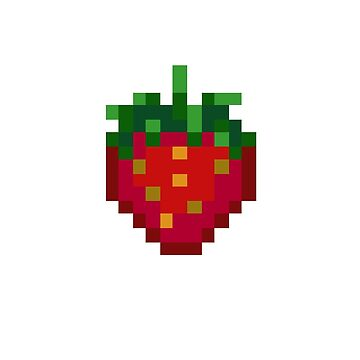 Pixel Strawberry by angrycheez