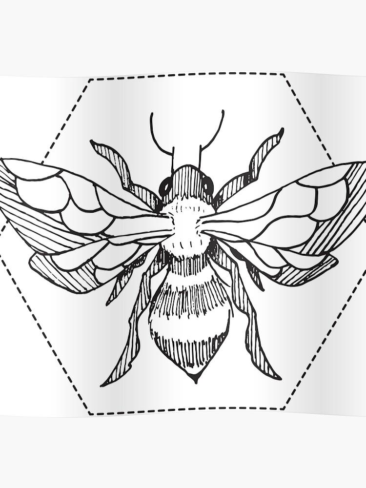 4d29e9ef Pen & Ink Bee Tattoo