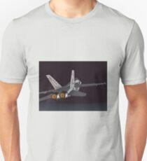 F-18 Hornet jet fighter aircraft [comics edition 2] Unisex T-Shirt