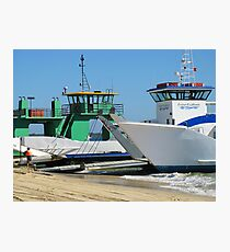 Barges Inskip Point Photographic Print