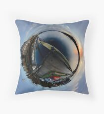 Foyle Marina at Dawn, Stereographic Floor Pillow