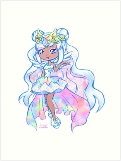 Cute Kawaii Unicorn Mystabella Shopkins Shoppies Doll Anime Fan Art