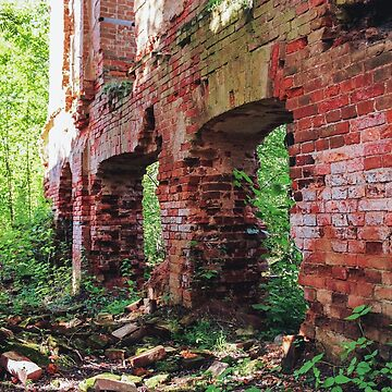 The crumbling walls of an ancient monastery. by GermanS