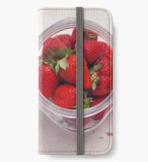 Strawberry Jar iPhone Wallet/Case/Skin
