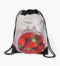Strawberry Jar Drawstring Bag