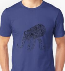 Abstract Octopus Floating in the Ether Unisex T-Shirt