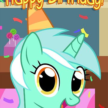 Lyra Heartstrings Birthday Card - Postcard My Little Pony by FalakTheWolf