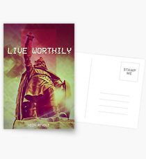 Live Worthily - Alfred the Great Postcards