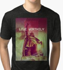 Live Worthily - Alfred the Great Tri-blend T-Shirt