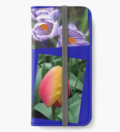 The Sweetness of Spring Floral Collage iPhone Flip-Case
