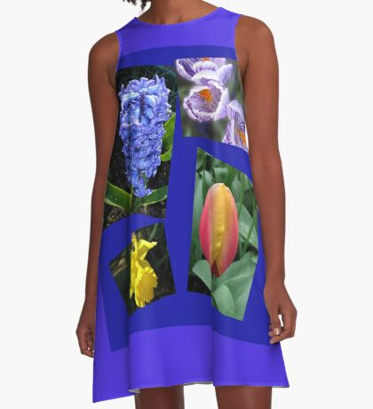 The Sweetness of Spring Floral Collage A-Linien Kleid