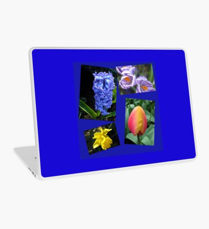 The Sweetness of Spring Floral Collage Laptop Skin
