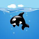 Netter kleiner Schwertwal, Killerwal von Natalia Linnik