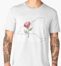 new york rose state flower Men's Premium T-Shirt