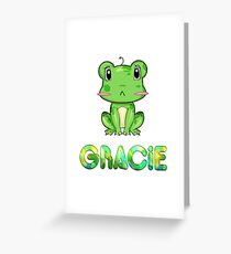 Gracie Frog Greeting Card