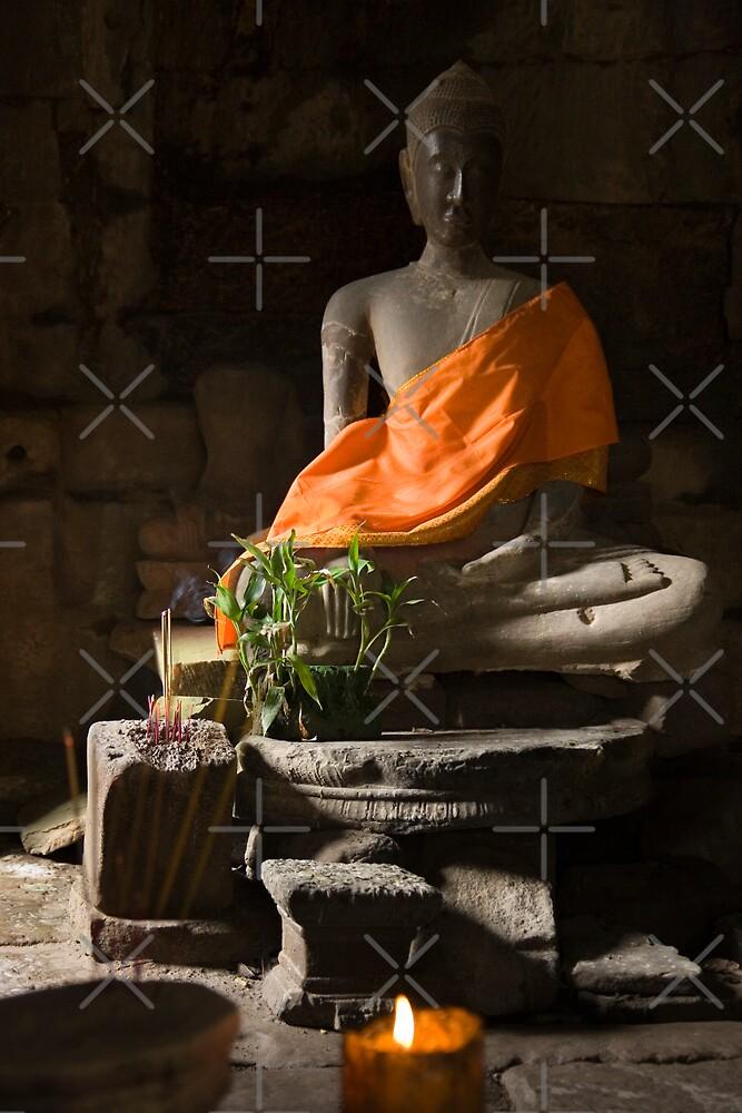 Buddha in Angkor Thom by Adrianne Yzerman
