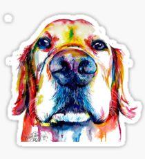 golden retriever watercolor Sticker