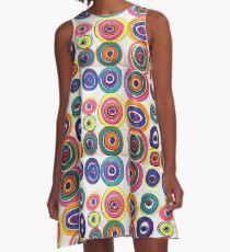Rainbow Vinyl A-Line Dress