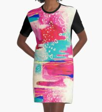 Misty Pink Graphic T-Shirt Dress