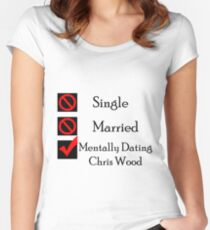 Mentally Dating Chris Wood Women's Fitted Scoop T-Shirt