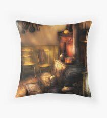The old farm kitchen Throw Pillow