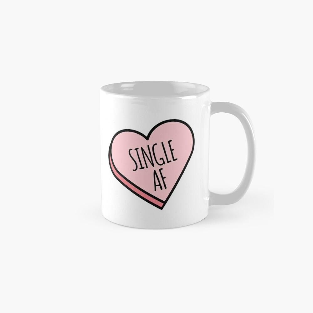 Single AF | Funny Valentine's Candy Heart Mug