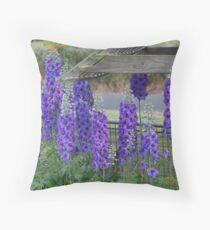 Delphinium in bloom Throw Pillow