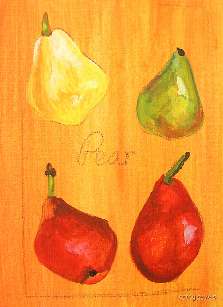 ACEO pears by cathy savels