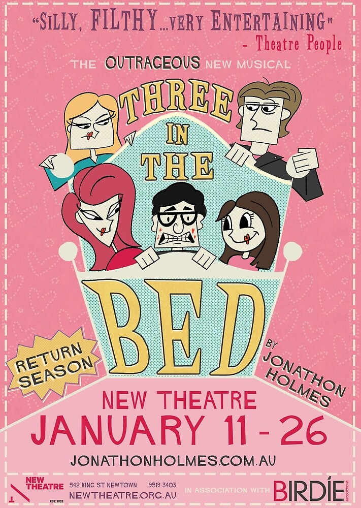 Three in the Bed by Jonathon Holmes