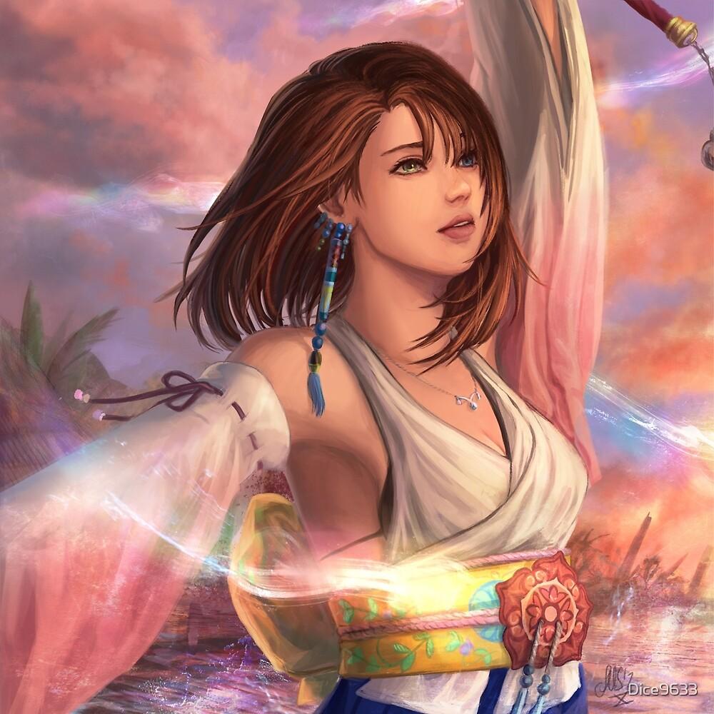 """Final Fantasy X - Yuna"" by Dice9633   Redbubble"