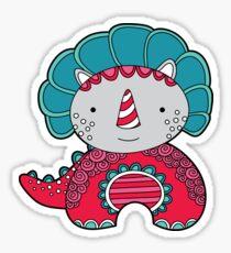 Red Dinosaur Sticker