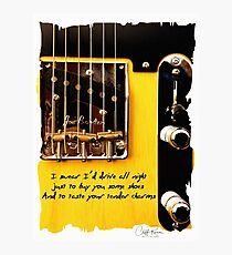 Bruce Springsteen Song Tribute Drive All Night Photographic Print
