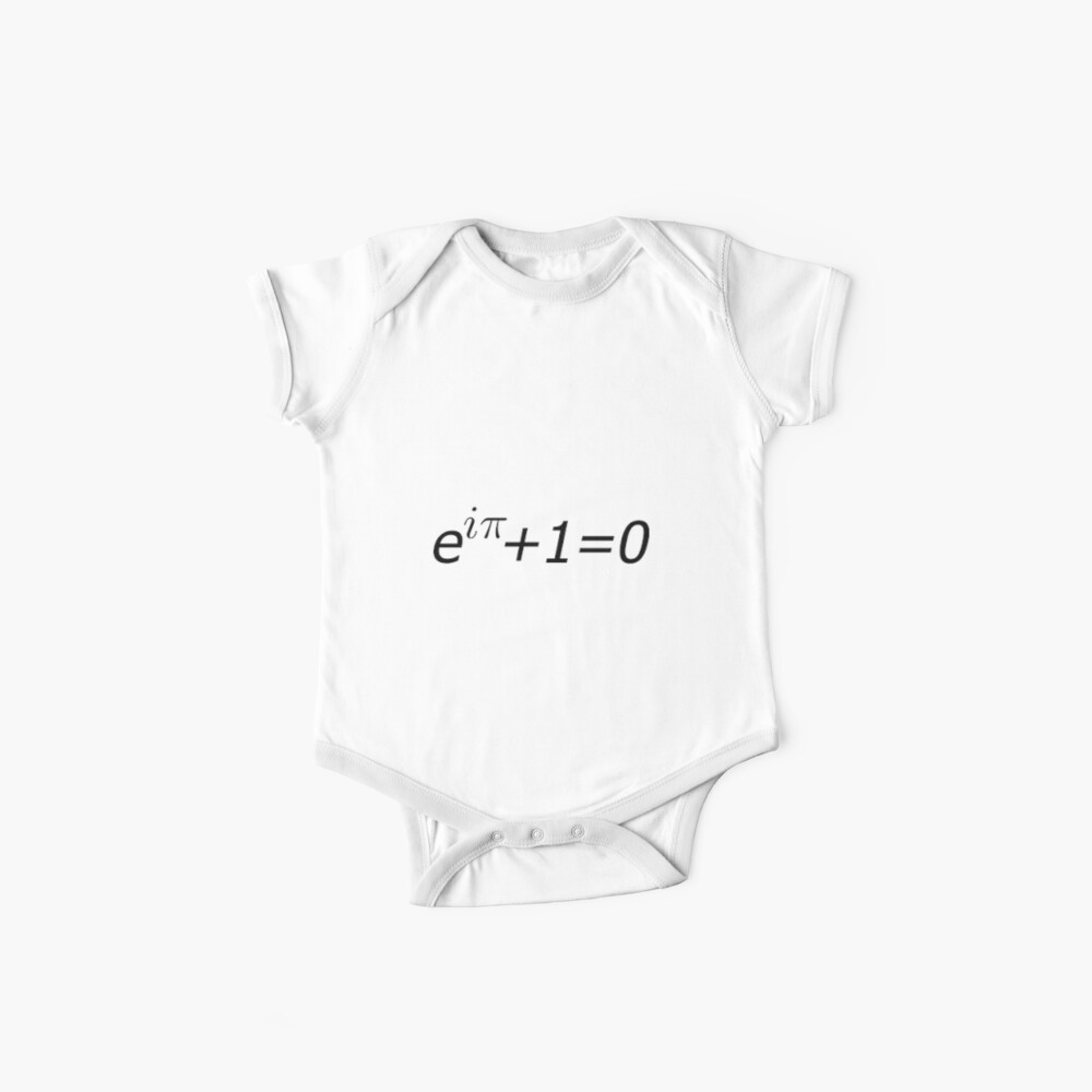 Euler's Identity, Math, Mathematics, Science, formula, equation, #Euler's #Identity Baby One-Pieces