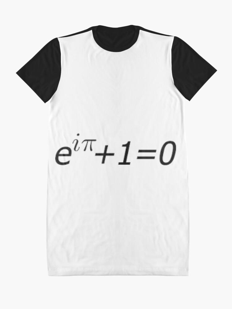 Alternate view of Euler's Identity, Math, Mathematics, Science, formula, equation, #Euler's #Identity Graphic T-Shirt Dress