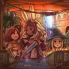 Final Fantasy XII - Ashe, Panelo, and Fran by Dice9633