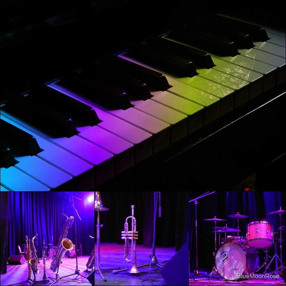 Jazz-Instrumente-Collage von BlueMoonRose