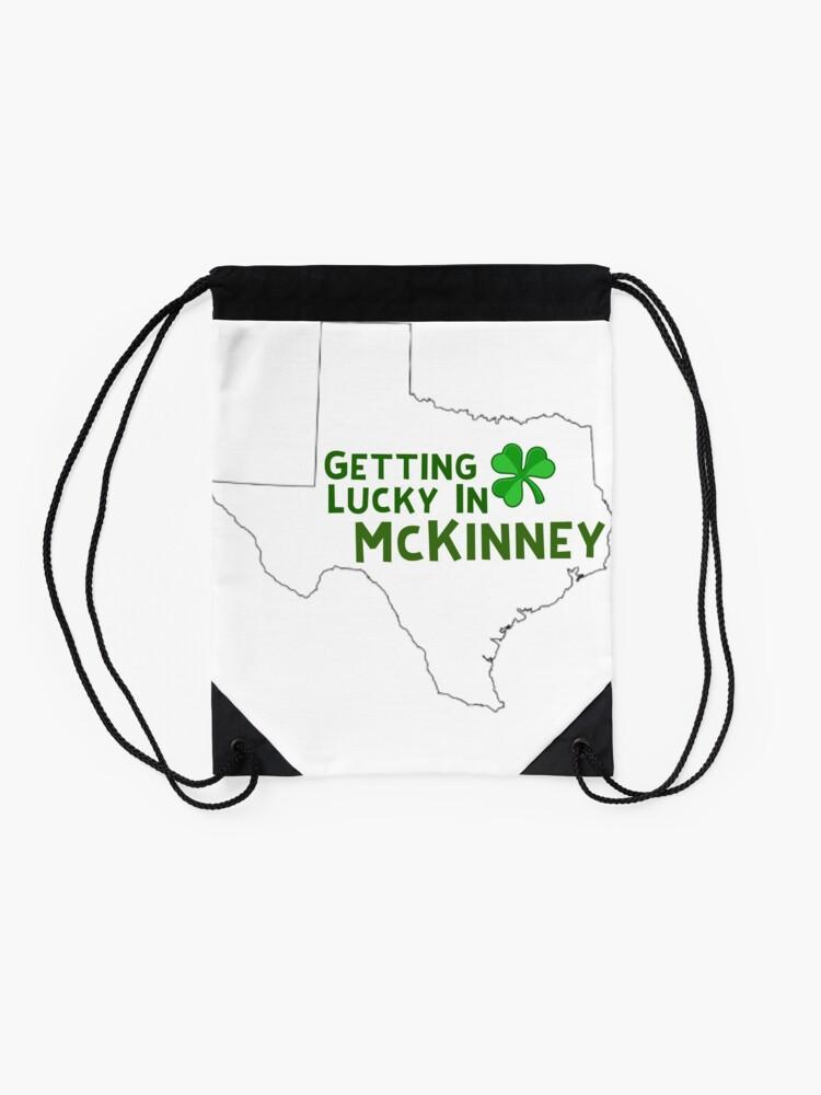 Alternate view of St Patricks Day Texas  Drawstring Bag