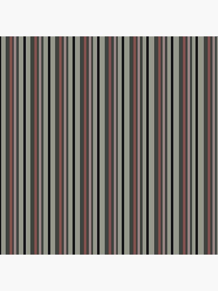 Dark Floral Stripe by MeredithWatson