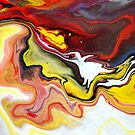Liquid Acrylic Abstract Painting by markchadwick