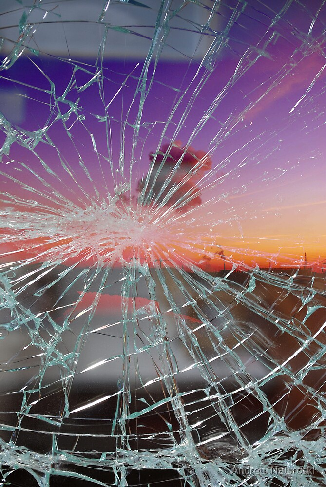 Broken window 2. by Andrew Nawroski