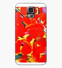 Red Petals Case/Skin for Samsung Galaxy