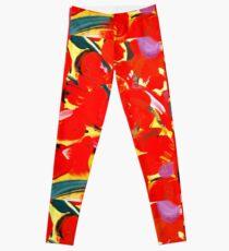 Red Petals Leggings