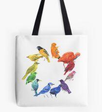 Bird colour wheel Tote Bag