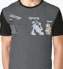 Robot vs Droid Battle Graphic T-Shirt