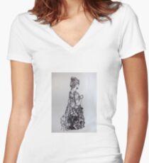 Wearable art Women's Fitted V-Neck T-Shirt